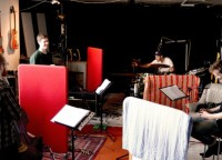 studio recording with Hugo Ulfsson